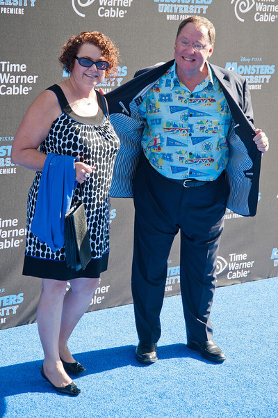 HOLLYWOOD, CA - JUNE 17: COO of Pixar/Walt Disney Animation Studios John Lasseter and wife Nancy attend  the world premiere of Disney Pixar's 'Monsters University' at the El Capitan Theatre on Monday, June 17, 2013 in Hollywood, California. (Photo by Tom Sorensen/Moovieboy Pictures)