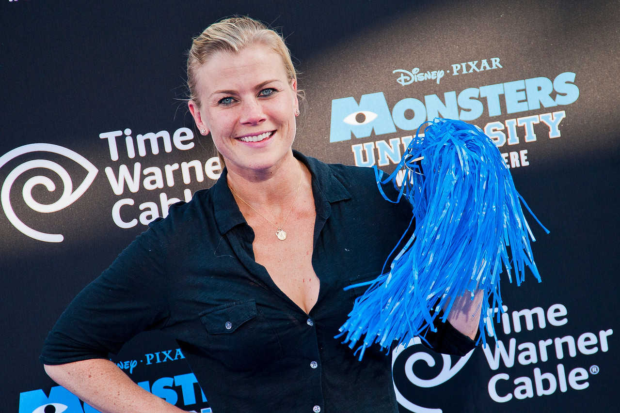HOLLYWOOD, CA - JUNE 17: Actress Alison Sweeney attends the world premiere of Disney Pixar's 'Monsters University' at the El Capitan Theatre on Monday, June 17, 2013 in Hollywood, California. (Photo by Tom Sorensen/Moovieboy Pictures)