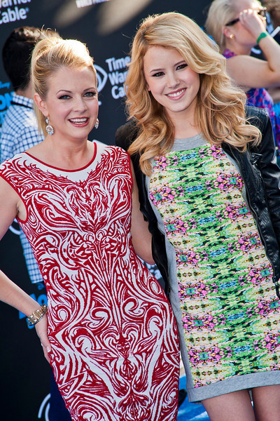 HOLLYWOOD, CA - JUNE 17: Actresses Melissa Joan Hart and Taylor Spreitler attend the world premiere of Disney Pixar's 'Monsters University' at the El Capitan Theatre on Monday, June 17, 2013 in Hollywood, California. (Photo by Tom Sorensen/Moovieboy Pictures)