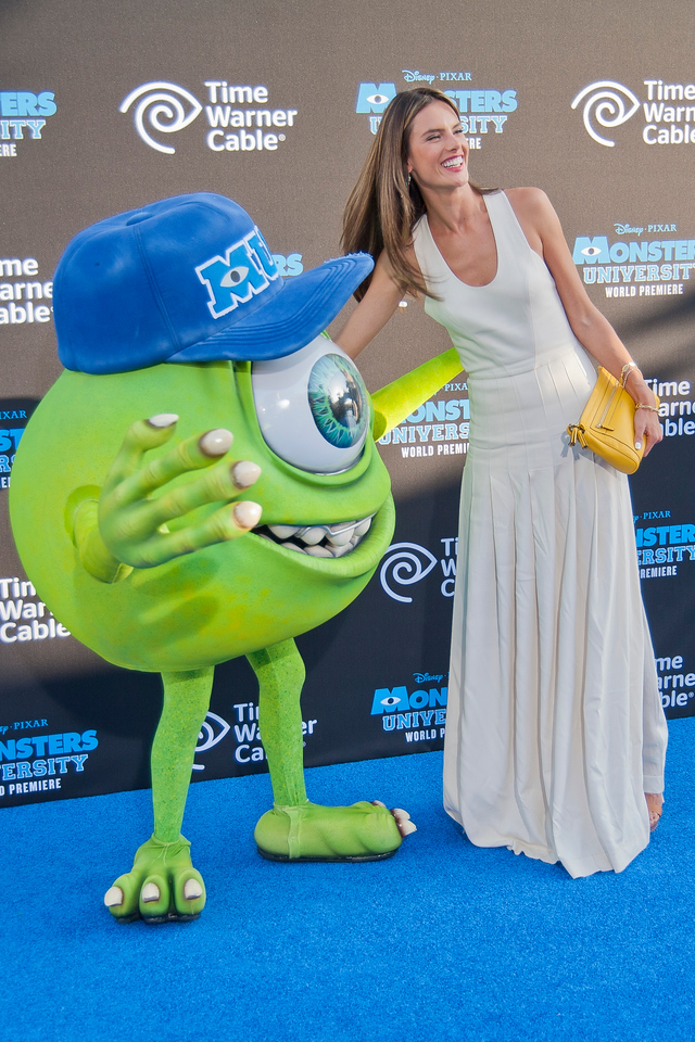 HOLLYWOOD, CA - JUNE 17: Model Alessandra Ambrosio attends the world premiere of Disney Pixar's 'Monsters University' at the El Capitan Theatre on Monday, June 17, 2013 in Hollywood, California. (Photo by Tom Sorensen/Moovieboy Pictures)