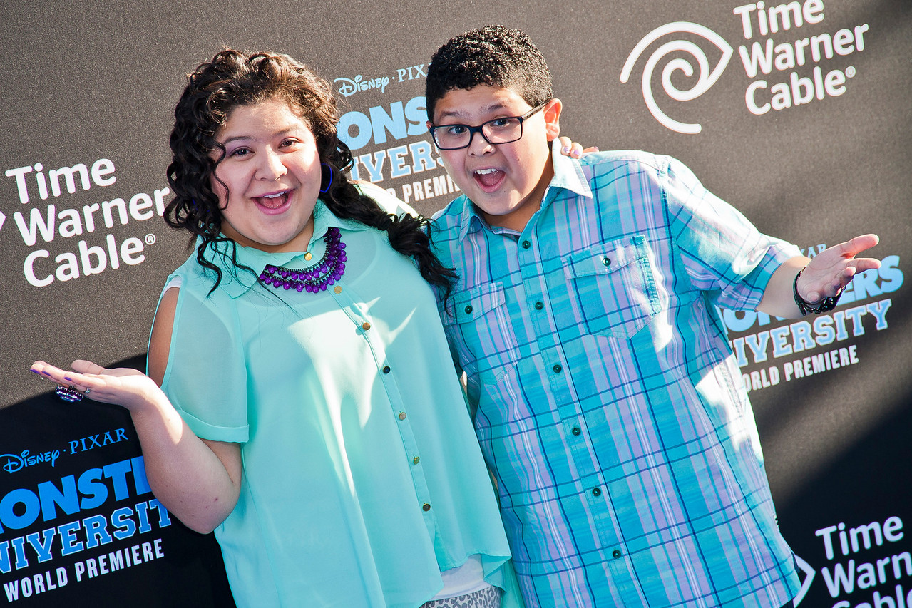 HOLLYWOOD, CA - JUNE 17: Actors Raini Rodriguez and Rico Rodriguez attend the world premiere of Disney Pixar's 'Monsters University' at the El Capitan Theatre on Monday, June 17, 2013 in Hollywood, California. (Photo by Tom Sorensen/Moovieboy Pictures)