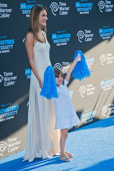 HOLLYWOOD, CA - JUNE 17: Model Alessandra Ambrosio and daughter Anja Louise Ambrosio Mazur attend the world premiere of Disney Pixar's 'Monsters University' at the El Capitan Theatre on Monday, June 17, 2013 in Hollywood, California. (Photo by Tom Sorensen/Moovieboy Pictures)