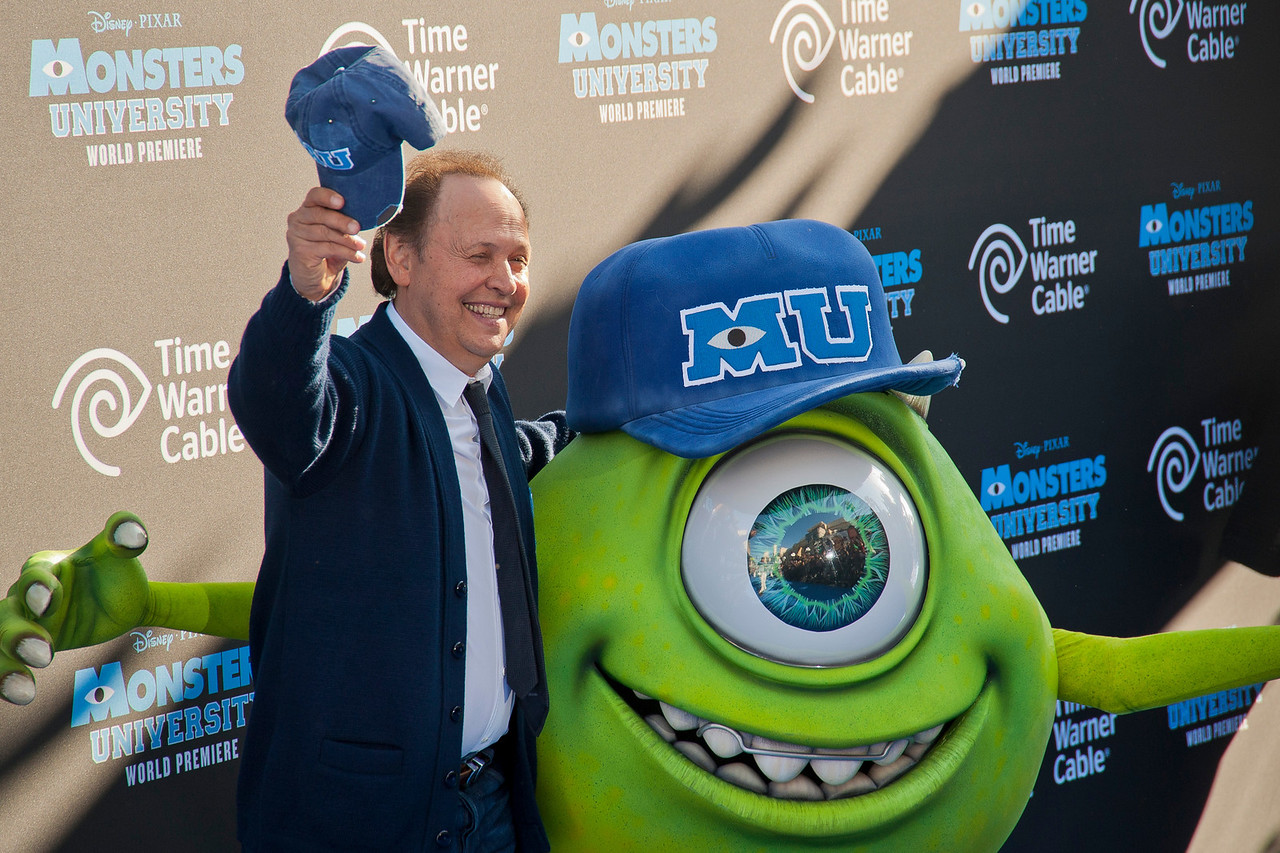 HOLLYWOOD, CA - JUNE 17: Actor Billy Crystal attends the world premiere of Disney Pixar's 'Monsters University' at the El Capitan Theatre on Monday, June 17, 2013 in Hollywood, California. (Photo by Tom Sorensen/Moovieboy Pictures)