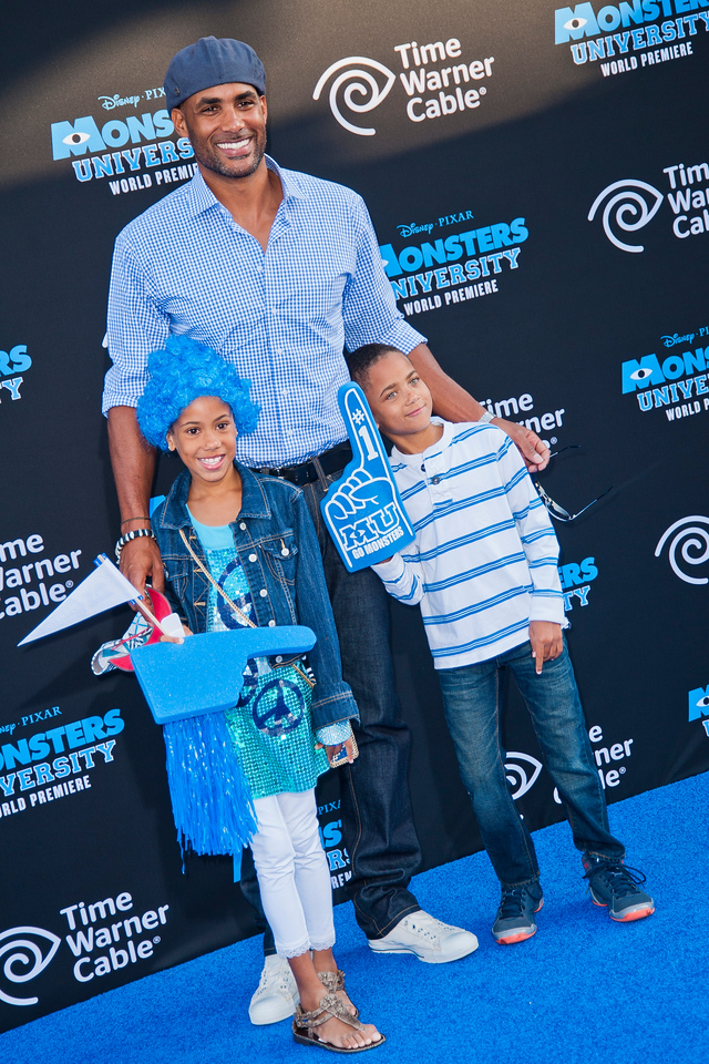 HOLLYWOOD, CA - JUNE 17: Boris Kodjoe and children attend the world premiere of Disney Pixar's 'Monsters University' at the El Capitan Theatre on Monday, June 17, 2013 in Hollywood, California. (Photo by Tom Sorensen/Moovieboy Pictures)