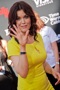 ANAHEIM, CA - JUNE 22: Actress Bellamy Young attends the premiere of Walt Disney Pictures' 'The Lone Ranger' at Disney California Adventure Park on Saturday, June 22, 2013 in Anaheim, California. (Photo by Tom Sorensen/Moovieboy Pictures)