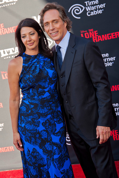 ANAHEIM, CA - JUNE 22: Actor William Fichtner (R) and Kymberly Kalil attend the premiere of Walt Disney Pictures' 'The Lone Ranger' at Disney California Adventure Park on Saturday, June 22, 2013 in Anaheim, California. (Photo by Tom Sorensen/Moovieboy Pictures)