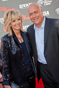 ANAHEIM, CA - JUNE 22: Baseball legend Cal Ripken (R) and wife Kelly Ripken attend the premiere of Walt Disney Pictures' 'The Lone Ranger' at Disney California Adventure Park on Saturday, June 22, 2013 in Anaheim, California. (Photo by Tom Sorensen/Moovieboy Pictures)