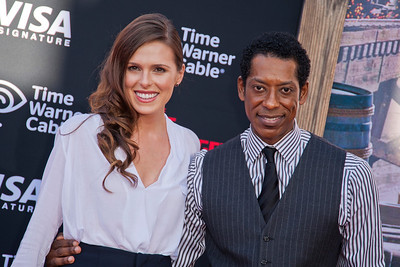 ANAHEIM, CA - JUNE 22: Jacqueline Staph and actor Orlando Jones attend the premiere of Walt Disney Pictures' 'The Lone Ranger' at Disney California Adventure Park on Saturday, June 22, 2013 in Anaheim, California. (Photo by Tom Sorensen/Moovieboy Pictures)