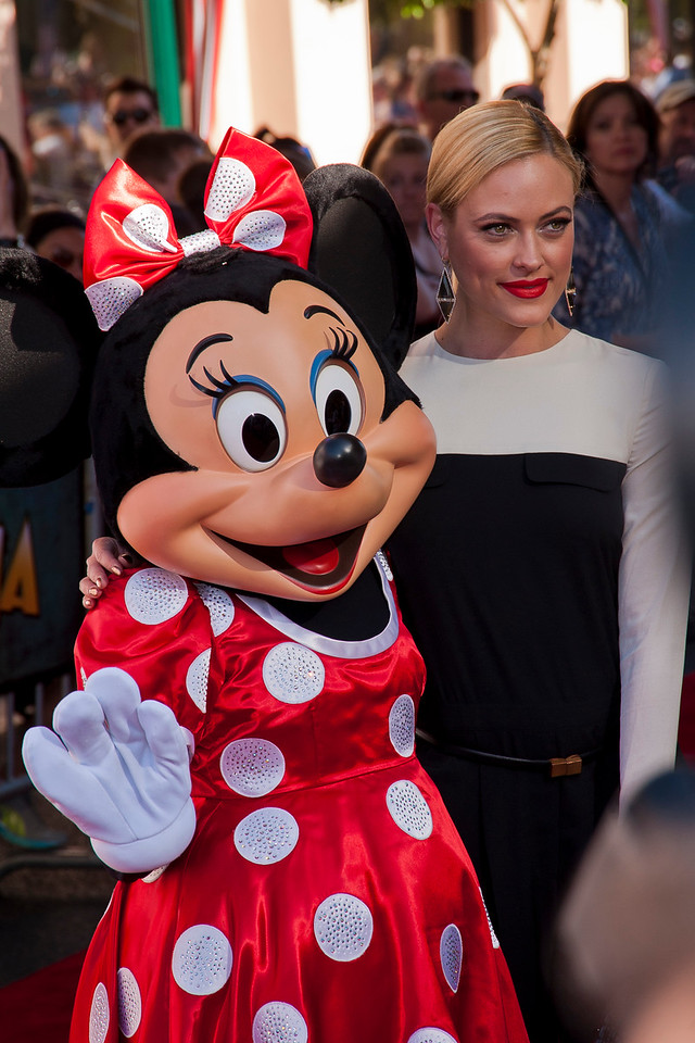 ANAHEIM, CA - JUNE 22: Peta Murgatroyd and Minnie Mouse attend the premiere of Walt Disney Pictures' 'The Lone Ranger' at Disney California Adventure Park on Saturday, June 22, 2013 in Anaheim, California. (Photo by Tom Sorensen/Moovieboy Pictures)