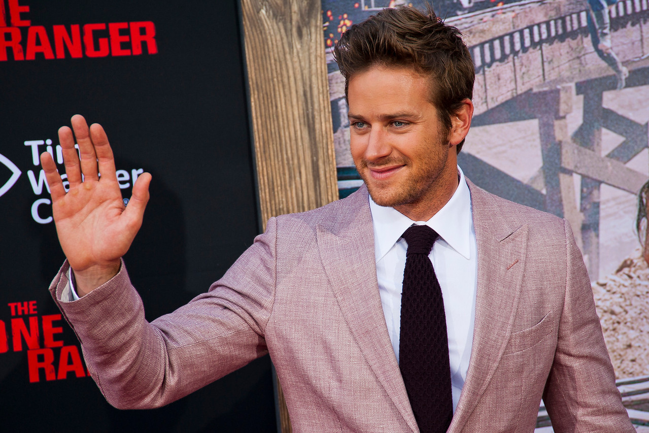 ANAHEIM, CA - JUNE 22: Actor Armie Hammer attends the premiere of Walt Disney Pictures' 'The Lone Ranger' at Disney California Adventure Park on Saturday, June 22, 2013 in Anaheim, California. (Photo by Tom Sorensen/Moovieboy Pictures)
