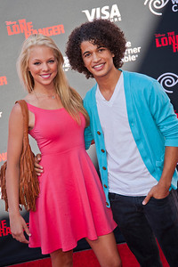 ANAHEIM, CA - JUNE 22: Actor Jordan Fisher and guest attend the premiere of Walt Disney Pictures' 'The Lone Ranger' at Disney California Adventure Park on Saturday, June 22, 2013 in Anaheim, California. (Photo by Tom Sorensen/Moovieboy Pictures)