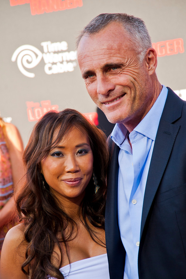 ANAHEIM, CA - JUNE 22: Actor Timothy V. Murphy (R) and guest attend the premiere of Walt Disney Pictures' 'The Lone Ranger' at Disney California Adventure Park on Saturday, June 22, 2013 in Anaheim, California. (Photo by Tom Sorensen/Moovieboy Pictures)