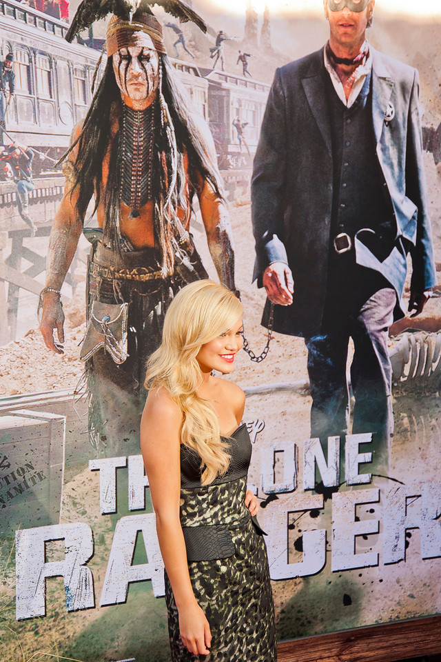 ANAHEIM, CA - JUNE 22: Actress Olivia Holt attends the premiere of Walt Disney Pictures' 'The Lone Ranger' at Disney California Adventure Park on Saturday, June 22, 2013 in Anaheim, California. (Photo by Tom Sorensen/Moovieboy Pictures)