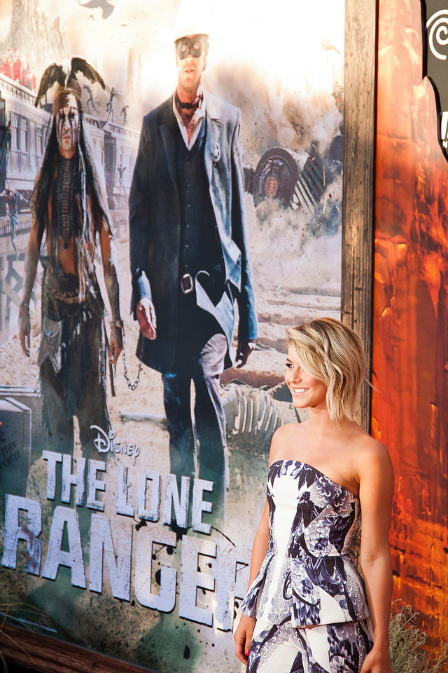 ANAHEIM, CA - JUNE 22: Actress Julianne Hough attends the premiere of Walt Disney Pictures' 'The Lone Ranger' at Disney California Adventure Park on Saturday, June 22, 2013 in Anaheim, California. (Photo by Tom Sorensen/Moovieboy Pictures)