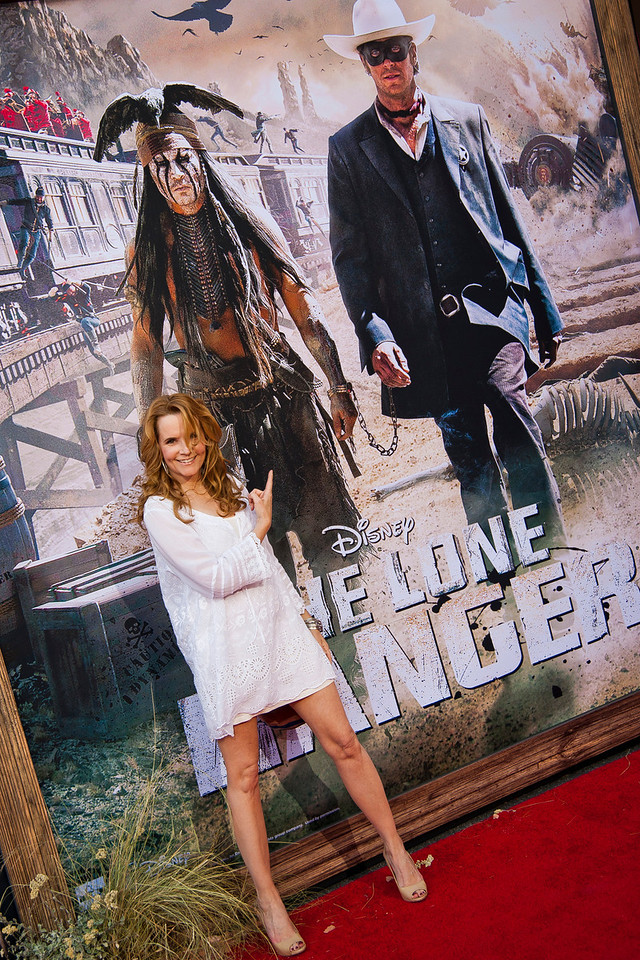ANAHEIM, CA - JUNE 22: Actress Lea Thompson attends the premiere of Walt Disney Pictures' 'The Lone Ranger' at Disney California Adventure Park on Saturday, June 22, 2013 in Anaheim, California. (Photo by Tom Sorensen/Moovieboy Pictures)