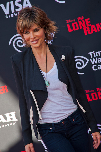 ANAHEIM, CA - JUNE 22: Actress Lisa Rinna attends the premiere of Walt Disney Pictures' 'The Lone Ranger' at Disney California Adventure Park on Saturday, June 22, 2013 in Anaheim, California. (Photo by Tom Sorensen/Moovieboy Pictures)