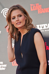 ANAHEIM, CA - JUNE 22: Actress Stana Katic attends the premiere of Walt Disney Pictures' 'The Lone Ranger' at Disney California Adventure Park on Saturday, June 22, 2013 in Anaheim, California. (Photo by Tom Sorensen/Moovieboy Pictures)