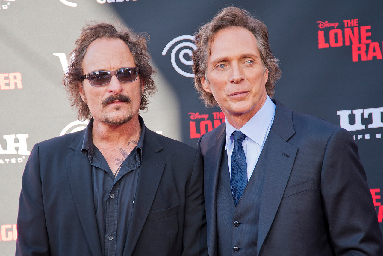 ANAHEIM, CA - JUNE 22: Actors Kim Coates and William Fichtner attend the premiere of Walt Disney Pictures' 'The Lone Ranger' at Disney California Adventure Park on Saturday, June 22, 2013 in Anaheim, California. (Photo by Tom Sorensen/Moovieboy Pictures)