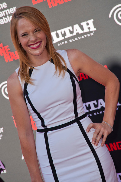 ANAHEIM, CA - JUNE 22: Actress Katie Leclerc attends the premiere of Walt Disney Pictures' 'The Lone Ranger' at Disney California Adventure Park on Saturday, June 22, 2013 in Anaheim, California. (Photo by Tom Sorensen/Moovieboy Pictures)