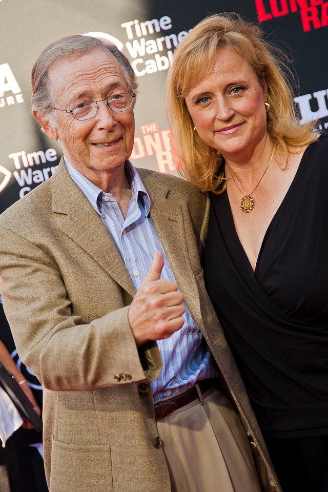 ANAHEIM, CA - JUNE 22: Actor Bernie Kopell and wife Catrina Honadle attend the premiere of Walt Disney Pictures' 'The Lone Ranger' at Disney California Adventure Park on Saturday, June 22, 2013 in Anaheim, California. (Photo by Tom Sorensen/Moovieboy Pictures)