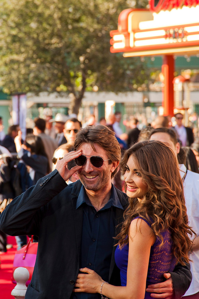 ANAHEIM, CA - JUNE 22: Actor/producer Sharlto Copley and model Tanit Phoenix attend the premiere of Walt Disney Pictures' 'The Lone Ranger' at Disney California Adventure Park on Saturday, June 22, 2013 in Anaheim, California. (Photo by Tom Sorensen/Moovieboy Pictures)
