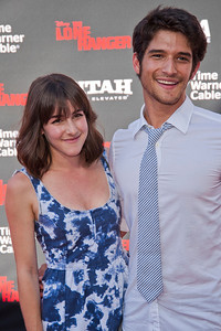 ANAHEIM, CA - JUNE 22: Actor Tyler Posey (R) and Seana Gorlick attend the premiere of Walt Disney Pictures' 'The Lone Ranger' at Disney California Adventure Park on Saturday, June 22, 2013 in Anaheim, California. (Photo by Tom Sorensen/Moovieboy Pictures)