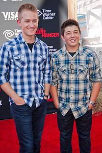 ANAHEIM, CA - JUNE 22: Actors Jason Dolley and Bradley Steven Perry attend the premiere of Walt Disney Pictures' 'The Lone Ranger' at Disney California Adventure Park on Saturday, June 22, 2013 in Anaheim, California. (Photo by Tom Sorensen/Moovieboy Pictures)