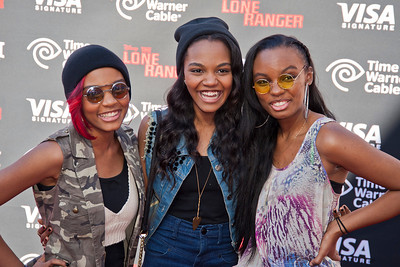ANAHEIM, CA - JUNE 22: Actresses Lauryn Alisa McClain, China Anne McClain and Sierra Aylina McClain attend the premiere of Walt Disney Pictures' 'The Lone Ranger' at Disney California Adventure Park on Saturday, June 22, 2013 in Anaheim, California. (Photo by Tom Sorensen/Moovieboy Pictures)