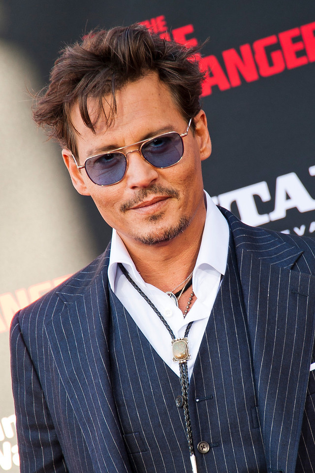 ANAHEIM, CA - JUNE 22: Actor Johnny Depp attends the premiere of Walt Disney Pictures' 'The Lone Ranger' at Disney California Adventure Park on Saturday, June 22, 2013 in Anaheim, California. (Photo by Tom Sorensen/Moovieboy Pictures)