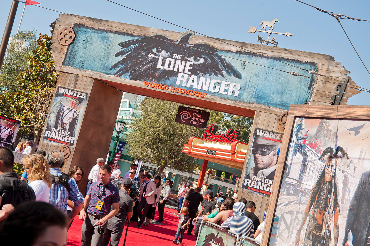 ANAHEIM, CA - JUNE 22: Atmosphere at the premiere of Walt Disney Pictures' 'The Lone Ranger' at Disney California Adventure Park on Saturday, June 22, 2013 in Anaheim, California. (Photo by Tom Sorensen/Moovieboy Pictures)