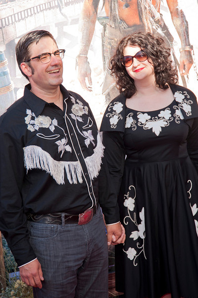 ANAHEIM, CA - JUNE 22: Tim Lagasse and guest attend the premiere of Walt Disney Pictures' 'The Lone Ranger' at Disney California Adventure Park on Saturday, June 22, 2013 in Anaheim, California. (Photo by Tom Sorensen/Moovieboy Pictures)
