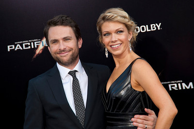 HOLLYWOOD, CA - JULY 09: Actors Charlie Day (L) and Mary Elizabeth Ellis arrive at the premiere of Warner Bros. Pictures' and Legendary Pictures' 'Pacific Rim' at Dolby Theatre on Tuesday, July 9, 2013 in Hollywood, California. (Photo by Tom Sorensen/Moovieboy Pictures)