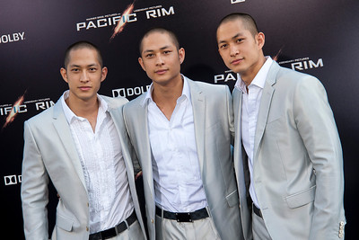 HOLLYWOOD, CA - JULY 09: Actors Charles Luu, Lance Luu and Mark Luu arrive at the premiere of Warner Bros. Pictures' and Legendary Pictures' 'Pacific Rim' at Dolby Theatre on Tuesday, July 9, 2013 in Hollywood, California. (Photo by Tom Sorensen/Moovieboy Pictures)