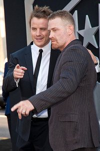 HOLLYWOOD, CA - JULY 09: Actors Robert Kazinsky (L) and Max Martini arrive at the premiere of Warner Bros. Pictures' and Legendary Pictures' 'Pacific Rim' at Dolby Theatre on Tuesday, July 9, 2013 in Hollywood, California. (Photo by Tom Sorensen/Moovieboy Pictures)