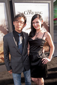 HOLLYWOOD, CA - JULY 15: Director James Wan (L) and guest arrive at the Los Angeles Premiere 'The Conjuring' at ArcLight Cinemas Cinerama Dome on Monday, July 15, 2013 in Hollywood, California. (Photo by Tom Sorensen/Moovieboy Pictures)
