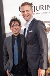 HOLLYWOOD, CA - JULY 15: Director James Wan (L) and actor John Brotherton arrive at the Los Angeles Premiere 'The Conjuring' at ArcLight Cinemas Cinerama Dome on Monday, July 15, 2013 in Hollywood, California. (Photo by Tom Sorensen/Moovieboy Pictures)