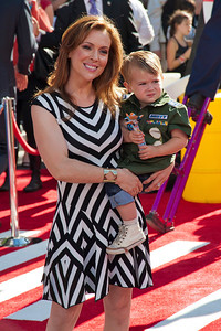HOLLYWOOD, CA - AUGUST 05: Actress Alyssa Milano and Milo Thomas Bugliari arrive at the Los Angeles premiere of 'Planes' at the El Capitan Theatre on Monday August 5, 2013 in Hollywood, California. (Photo by Tom Sorensen/Moovieboy Pictures)