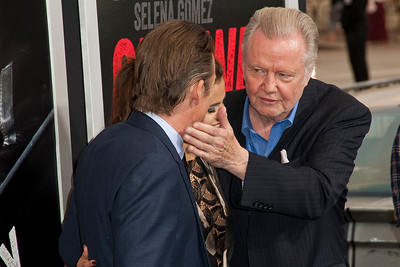 WESTWOOD, CA - AUGUST 26: Actors Ethan Hawke, Selena Gomez, Jon Voight attend the premiere of 'Getaway' presented by Warner Bros. Pictures at Regency Village Theatre on Monday, August 26, 2013 in Westwood, California. (Photo by Tom Sorensen/Moovieboy Pictures)