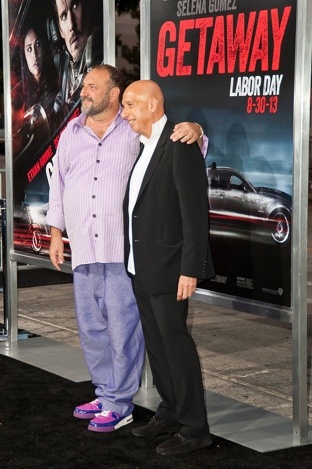 WESTWOOD, CA - AUGUST 26: Executive producer Joel Silver (L) and producer Allan Zeman attend the premiere of 'Getaway' presented by Warner Bros. Pictures at Regency Village Theatre on Monday, August 26, 2013 in Westwood, California. (Photo by Tom Sorensen/Moovieboy Pictures)
