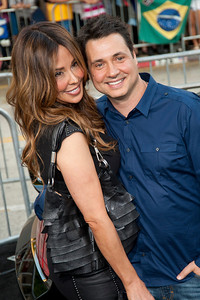 WESTWOOD, CA - AUGUST 26: TV personality/actor Adam Ferrara (R) and guest attend the premiere of 'Getaway' presented by Warner Bros. Pictures at Regency Village Theatre on Monday, August 26, 2013 in Westwood, California. (Photo by Tom Sorensen/Moovieboy Pictures)