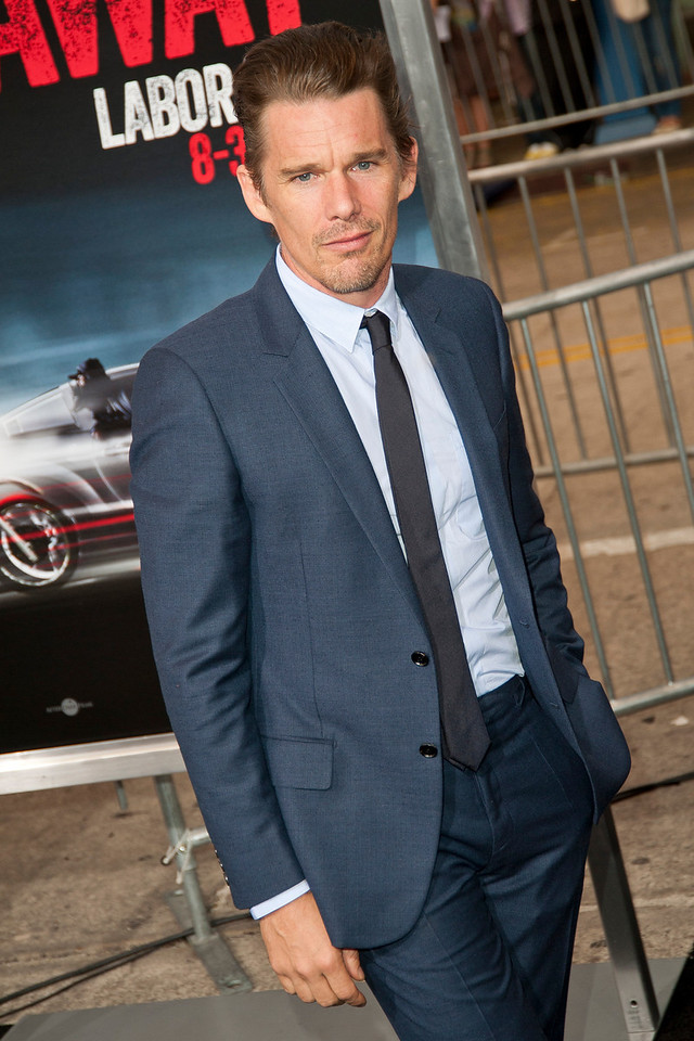 WESTWOOD, CA - AUGUST 26: Actor Ethan Hawke attends the premiere of 'Getaway' presented by Warner Bros. Pictures at Regency Village Theatre on Monday, August 26, 2013 in Westwood, California. (Photo by Tom Sorensen/Moovieboy Pictures)