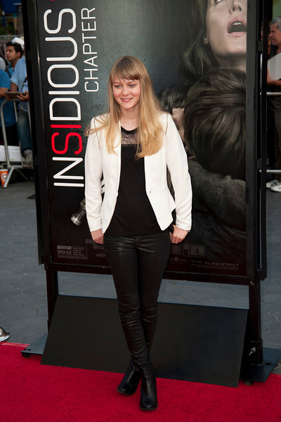 UNIVERSAL CITY, CA - SEPTEMBER 10: Actress Ryan Simpkins attends the premiere of FilmDistrict's 'Insidious: Chapter 2' at Universal CityWalk on Tuesday, September 10, 2013 in Universal City, California. (Photo by Tom Sorensen/Moovieboy Pictures)