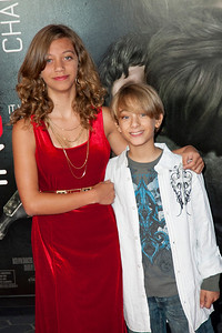 UNIVERSAL CITY, CA - SEPTEMBER 10: Actor Tyler Griffin (R) and sister actress Naomi Griffin attend the premiere of FilmDistrict's 'Insidious: Chapter 2' at Universal CityWalk on Tuesday, September 10, 2013 in Universal City, California. (Photo by Tom Sorensen/Moovieboy Pictures)