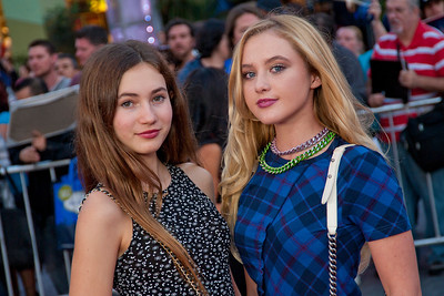 UNIVERSAL CITY, CA - SEPTEMBER 10: Kathryn Newton (R) and guest attend the premiere of FilmDistrict's 'Insidious: Chapter 2' at Universal CityWalk on Tuesday, September 10, 2013 in Universal City, California. (Photo by Tom Sorensen/Moovieboy Pictures)
