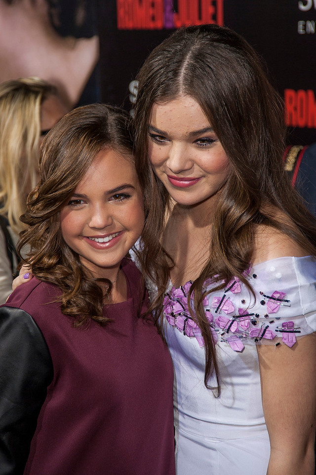 HOLLYWOOD, CA - SEPTEMBER 24: Actresses Bailee Madison and Hailee Steinfeld arrive at the premiere of Relativity Media's 'Romeo & Juliet' at ArcLight Hollywood on Tuesday, September 24, 2013 in Hollywood, California. (Photo by Tom Sorensen/Moovieboy Pictures)