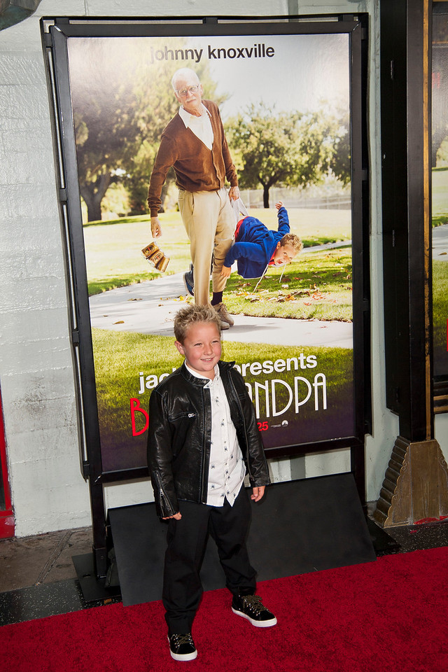 HOLLYWOOD, CA - OCTOBER 23: Actor Jackson Nicoll attends the premiere of Paramount Pictures' 'Jackass Presents: Bad Grandpa' at the TCL Chinese Theatre on Wednesday, October 23, 2013 in Hollywood, California. (Photo by Tom Sorensen/Moovieboy Pictures)