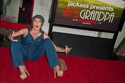 HOLLYWOOD, CA - OCTOBER 23: Actress Georgina Cates attends the premiere of Paramount Pictures' 'Jackass Presents: Bad Grandpa' at the TCL Chinese Theatre on Wednesday, October 23, 2013 in Hollywood, California. (Photo by Tom Sorensen/Moovieboy Pictures)