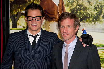 HOLLYWOOD, CA - OCTOBER 23: Actor Johnny Knoxville and producer Spike Joneze attend the premiere of Paramount Pictures' 'Jackass Presents: Bad Grandpa' at the TCL Chinese Theatre on Wednesday, October 23, 2013 in Hollywood, California. (Photo by Tom Sorensen/Moovieboy Pictures)