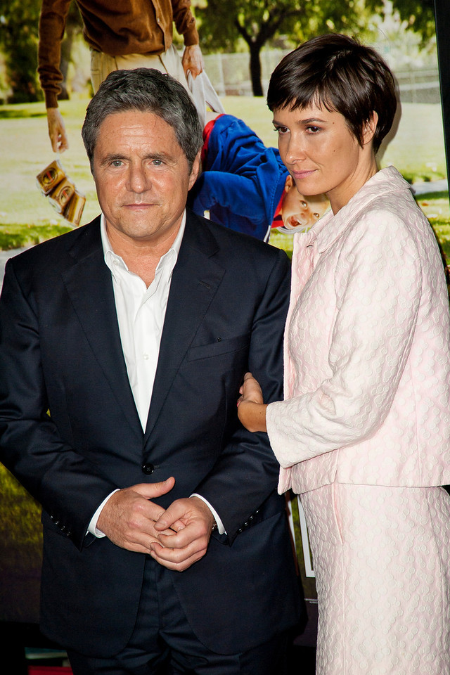 HOLLYWOOD, CA - OCTOBER 23: Chairman and CEO of Paramount Pictures Brad Grey (L) and wife Cassandra Huysentuyt attend the premiere of Paramount Pictures' 'Jackass Presents: Bad Grandpa' at the TCL Chinese Theatre on Wednesday, October 23, 2013 in Hollywood, California. (Photo by Tom Sorensen/Moovieboy Pictures)