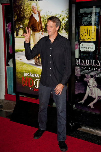 HOLLYWOOD, CA - OCTOBER 23: Tony Hawk attends the premiere of Paramount Pictures' 'Jackass Presents: Bad Grandpa' at the TCL Chinese Theatre on Wednesday, October 23, 2013 in Hollywood, California. (Photo by Tom Sorensen/Moovieboy Pictures)